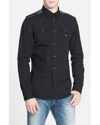 DIESEL | Black 'koir' Extra Trim Fit Stretch Woven Shirt for Men | Lyst