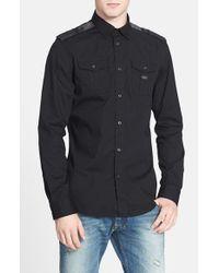 DIESEL - Black 'koir' Extra Trim Fit Stretch Woven Shirt for Men - Lyst