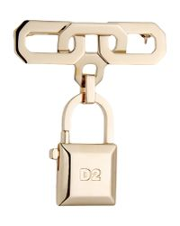 DSquared² - Metallic Brooch - Lyst