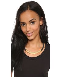 Kenneth Jay Lane - Metallic Bar Short Necklace - Gold/black - Lyst