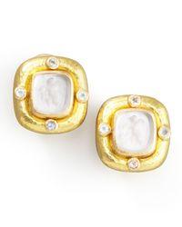 Elizabeth Locke | Metallic Putto Intaglio Clip/post Earrings | Lyst