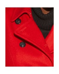 INC International Concepts   Red Wool Blend Belted Trench   Lyst