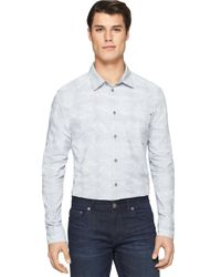 Calvin Klein Jeans | Gray Modern Fit Stream Plaid Sportshirt for Men | Lyst