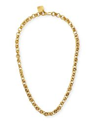 Ashley Pittman - Metallic Mini Chain Bronze Necklace - Lyst