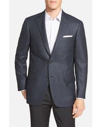Hart Schaffner Marx - Gray 'new York' Classic Fit Check Wool & Cashmere Sport Coat for Men - Lyst