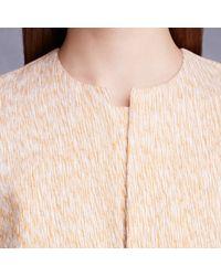 Trademark   Orange Pleat Front Top   Lyst
