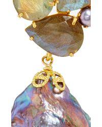 Bounkit | Gray Convertible Keshi Pearl And Labradorite Earrings | Lyst