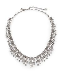 kate spade new york - Metallic Evening Affair Fringe Necklace - Lyst