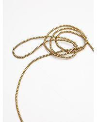 Free People | Metallic Anu Tassel Necklace | Lyst