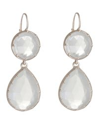 Anaconda | White Georgette Double-drop Earrings | Lyst