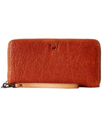Will Leather Goods | Orange Imogene Checkbook | Lyst