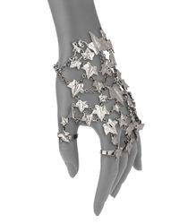 Alexander McQueen | Metallic Ivy Hand Adornment Bracelet Set | Lyst