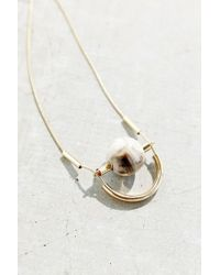 Urban Outfitters - White Great-minded Marble Necklace - Lyst