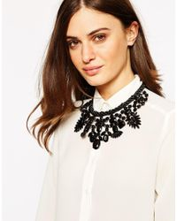 Oasis | Black Spike And Stone Statement Collar Necklace | Lyst
