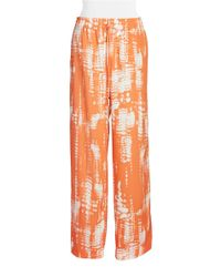 Calvin Klein | Orange Printed Pants | Lyst