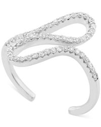 Wrapped in Love - Green ™ Diamond Squiggle Midi Ring (1/5 Ct. T.w.) In 10k White Gold - Lyst