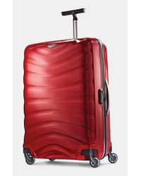 Samsonite | Red 'firelite' Rolling Suitcase for Men | Lyst