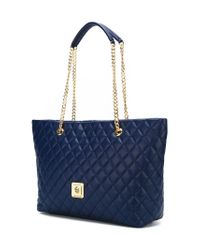 Love Moschino - Blue Quilted Shopper Tote - Lyst
