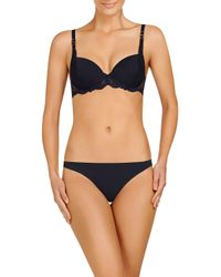 Stella McCartney | Blue Smooth & Lace Contour Bra | Lyst
