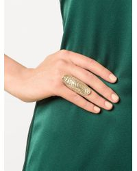 Venyx - Metallic 'lady Gator' Ring - Lyst