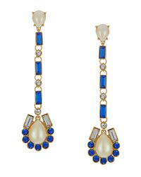 kate spade new york - Blue Symphony Sparkle Drop Earrings - Lyst