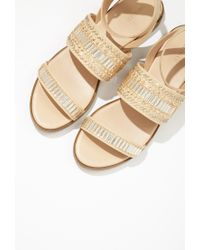 Forever 21 | Natural Beaded Flatform Sandals | Lyst