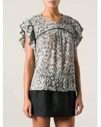 IRO - Black 'Carla' Short Sleeved Blouse - Lyst