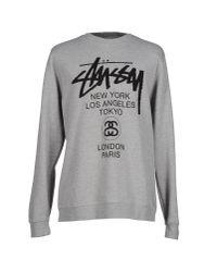 Stussy - Gray Sweatshirt for Men - Lyst