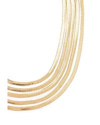 Forever 21 | Metallic Layered Herringbone Necklace | Lyst