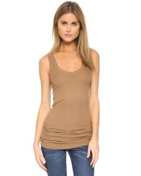 Enza Costa | Natural Bold Ribbed Tank | Lyst