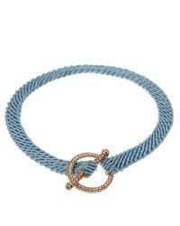 Ruby Kovo | Blue Pave Diamond Toggle Bracelet | Lyst