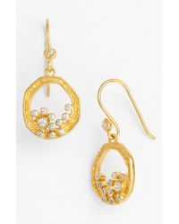 Melinda Maria | Metallic 'emma' Drop Earrings | Lyst