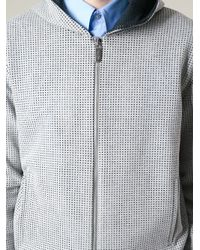 Calvin Klein - Gray Perforated Hoodie for Men - Lyst