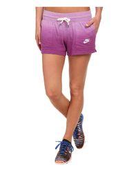 Nike - Purple Gym Vintage Short - Dip Dye - Lyst