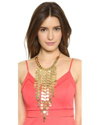 Kenneth Jay Lane | Metallic Hammered Statement Necklace - Gold | Lyst