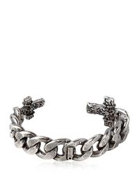 Emanuele Bicocchi | Metallic Chunky Chain Sterling Silver Cross Cuff for Men | Lyst