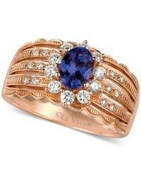 Le Vian | Pink Tanzanite (5/8 Ct. T.w.) And Diamond (1/2 Ct. T.w.) Scalloped Ring In 14k Rose Gold | Lyst