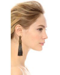 Oscar de la Renta - Metallic Ombre Tassel Earrings - Lyst