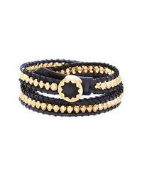 House of Harlow 1960   Black Karma Beaded Wrap Bracelet   Lyst