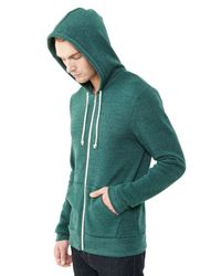 Alternative Apparel - Multicolor Rocky Eco-fleece Zip Hoodie for Men - Lyst