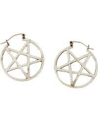 Pamela Love - Metallic Antique Silver Mini Pentagram Earrings - Lyst