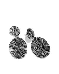 David Yurman - Metallic Cable Coil Double-Drop Earrings - Lyst