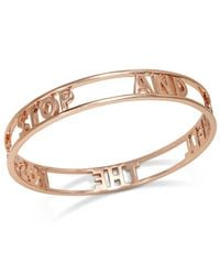 "kate spade new york | Metallic Rose Gold-Tone ""Stop And Smell The Roses"" Bangle Bracelet 