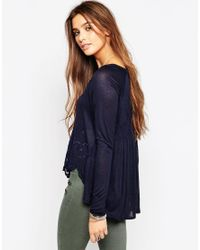 Free People | Blue That's Amore Top In Indigo | Lyst