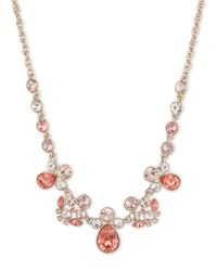 Givenchy - Pink Crystal Glitz Collar Necklace, Rose Goldtone - Lyst