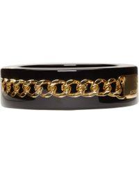 McQ - Black Suspended Chain Plexi Bangle - Lyst