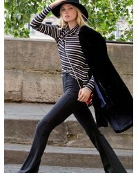 Free People - Black Highland High Rise Flare - Lyst