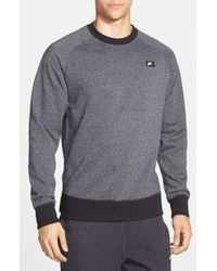 Nike Gray 'aw77' French Terry Crewneck Sweater for men