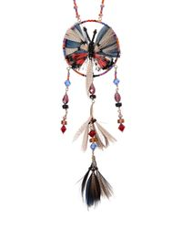Valentino | Multicolor Butterfly Dream Catcher Necklace | Lyst