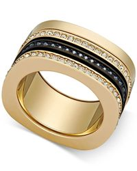 Swarovski | Metallic Two-tone Crystal Screw-on Stackable Ring | Lyst